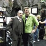 John Rhys-Davies with Richard Taylor at the Weta booth at Calgary Expo 2013.  Photo by David Tremont.