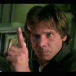 Harrison Ford Makes a Point