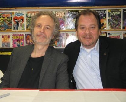Captain Power composer Gary Guttman and SFX supervisor Robert DeLapp.  Photo © W. R. Miller.