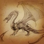 A Portrait of Smaug by John Howe